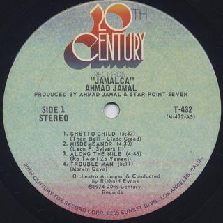Ahmad Jamal / Jamalca label