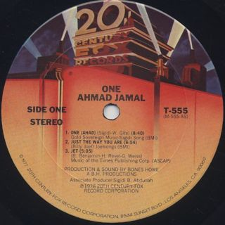 Ahmad Jamal / One label