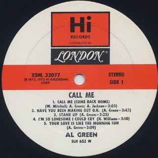 Al Green / Call Me label