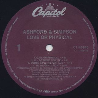 Ashford And Simpson / Love Or Physical label