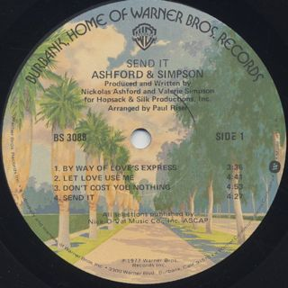 Ashford And Simpson / Send It label