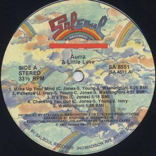 Aurra / A Little Love label