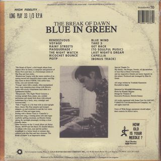 Blue In Green / The Break Of Dawn back