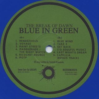 Blue In Green / The Break Of Dawn label