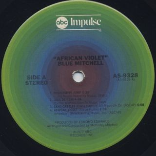 Blue Mitchell / African Violet label