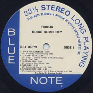 Bobbi Humphrey / Flute In label