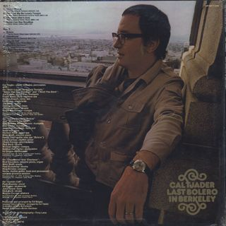 Cal Tjader / Last Bolero In Berkeley back