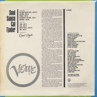 Cal Tjader / Soul Sauce back