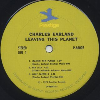 Charles Earland / Leaving This Planet label