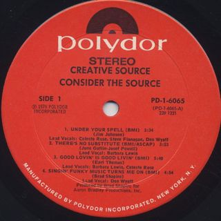 Creative Source / Consider The Source label