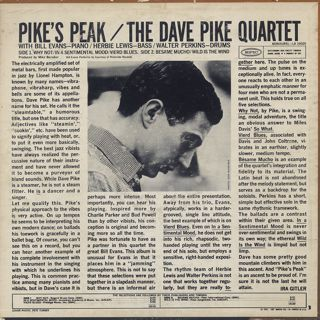 Dave Pike Quartet / Pike's Peak back