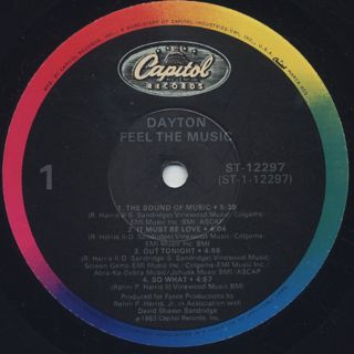 Dayton / Feel The Music label