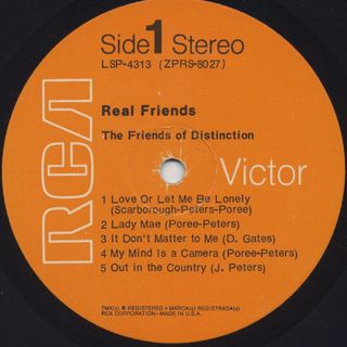 Friends Of Distinction / Real Friends label