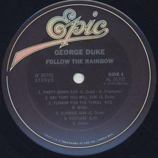George Duke / Follow The Rainbow label