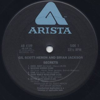 Gil Scott-Heron and Brian Jackson / Secrets label