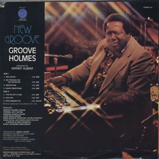 Groove Holmes / New Groove back