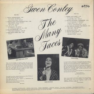 Gwen Conley / The Many Faces (VG+) back