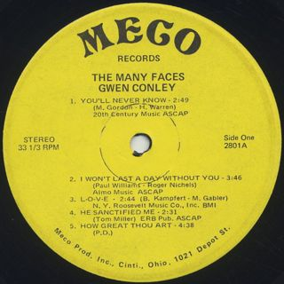 Gwen Conley / The Many Faces (VG+) label