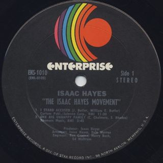 Isaac Hayes / The Isaac Hayes Movement label