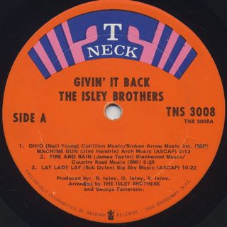 Isley Brothers / Givin' It Back label