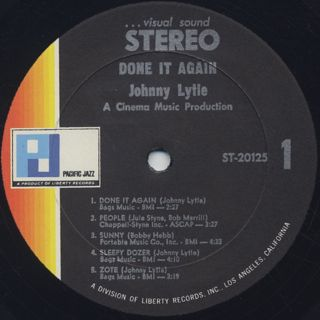Johnny Lytle / Done It Again label