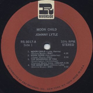Johnny Lytle / Moon Child label