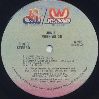 Junie / When We Do label