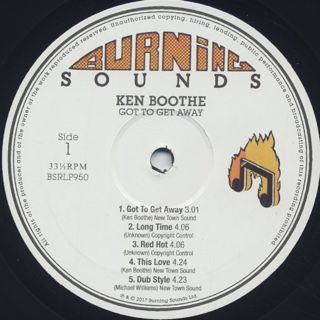 Ken Boothe / Got To Get Away Showcase label