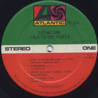 Les McCann / Talk To The People label