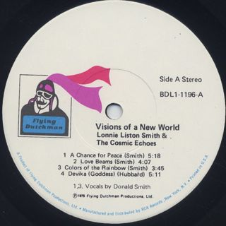 Lonnie Liston Smith & The Cosmic Echoes / Visions Of A New World label