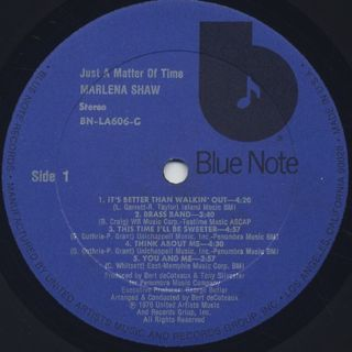 Marlena Shaw / Just A Matter Of Time label