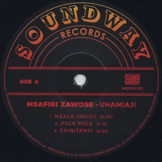 Msafiri Zawose / Uhamiaji label