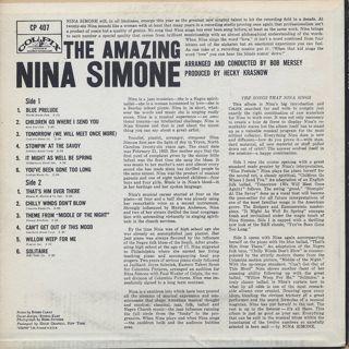 Nina Simone / The Amazing Nina Simone back