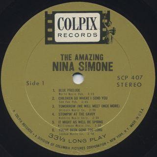 Nina Simone / The Amazing Nina Simone label