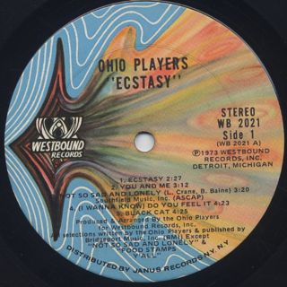 Ohio Players / Ecstasy label