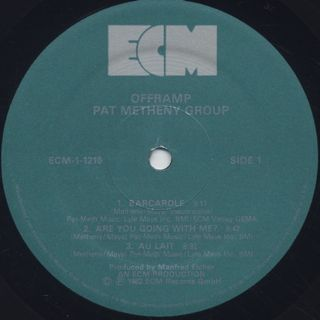 Pat Metheny Group / Offramp label