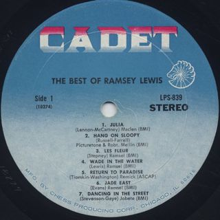 Ramsey Lewis / The Best Of Ramsey Lewis label