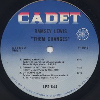 Ramsey Lewis / Them Changes label