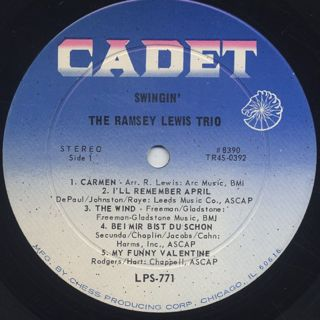 Ramsey Lewis Trio / Swingin' label