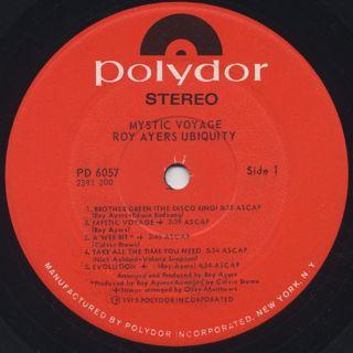 Roy Ayers Ubiquity / Mystic Voyage label