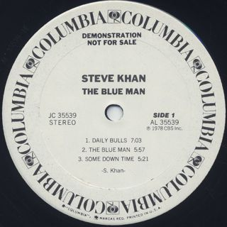 Steve Khan / The Blue Man label