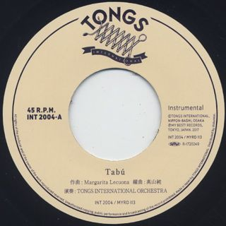 Tongs International Orchestra / Tabu back