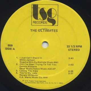 Ultimates / You're My Lady (LP) label