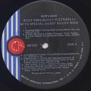 Zoot Sims, Bucky Pizzarelli / Nirvana label
