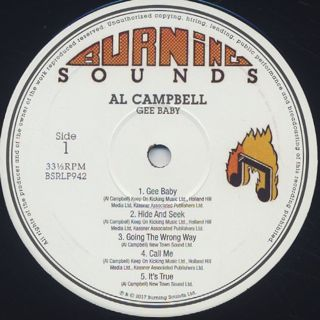 Al Campbell / Gee Baby label