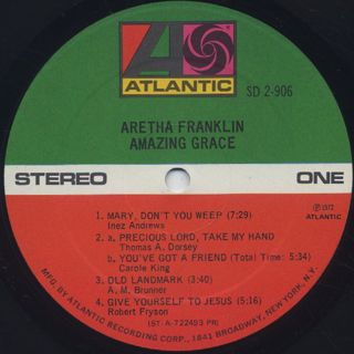 Aretha Franklin / Amazing Grace label