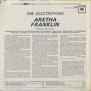 Aretha Franklin / The Electrifying back