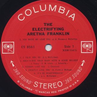 Aretha Franklin / The Electrifying label