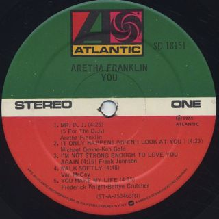Aretha Franklin / You label