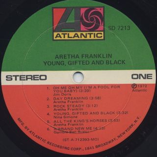 Aretha Franklin / Young, Gifted And Black label
